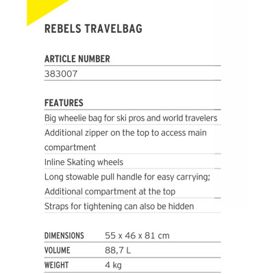 REBELS TRAVELBAG 2017
