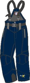 B11D Vuxenbyxa  glansigt tyg Mörkblå