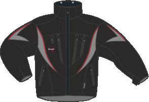 B223 Vuxen Jacka WBk-WBk-WGr-WBk-Sc (Tunnare tyg)