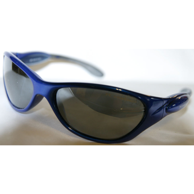 Blå solglasögon