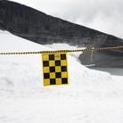 Avspärrningsrep, svart/gult flaggspel 30m
