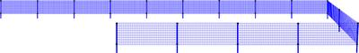 Polyfence-nät 1,2x50m + 16 käpp (C-Nät)